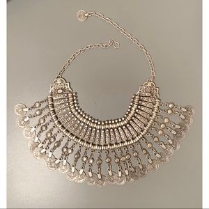 Silver Plated Statement Necklace